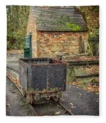 Victorian Mining Cart Fleece Blanket