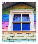 Victorian Rainbow Fleece Blanket