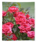 Victorian Rose Garden Fleece Blanket
