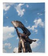 Victory Monument, Dien Bien Phu, Vietnam Fleece Blanket