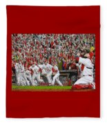 Victory - St Louis Cardinals Win The World Series Title - Friday Oct 28th 2011 Fleece Blanket