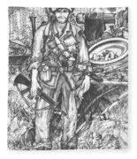 Vietnam Soldier Fleece Blanket