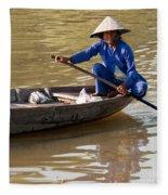 Vietnamese Boatwoman 01 Fleece Blanket