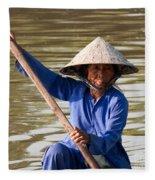 Vietnamese Boatwoman 02 Fleece Blanket