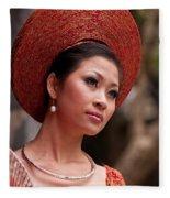 Vietnamese Bride 09 Fleece Blanket