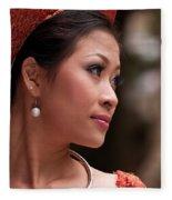 Vietnamese Bride 12 Fleece Blanket
