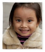 Vietnamese Girl 03 Fleece Blanket