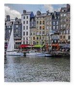 Vieux Bassin Of Honfleur Fleece Blanket