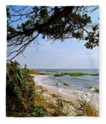 View At East Point  Fleece Blanket