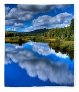 View At The Green Bridge - Old Forge New York Fleece Blanket
