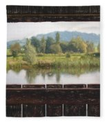 View From A Hide Impressions Fleece Blanket
