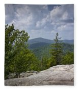 View From A Mountain In A Vermont Fleece Blanket