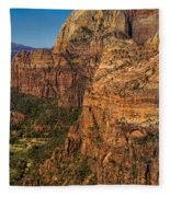 View From Angel's Landing 2 Fleece Blanket