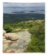 View From Cadillac Mountain - Acadia Park Fleece Blanket
