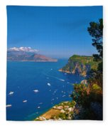 View From Capri Fleece Blanket