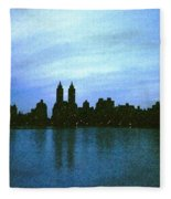 View From Central Park Fleece Blanket