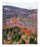 View From Devil's Courthouse 3 Fleece Blanket