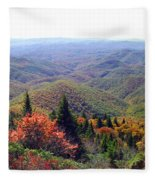 View From Devil's Courthouse Mountain Fleece Blanket