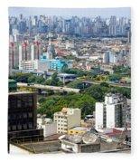 View From Edificio Martinelli 2 - Sao Paulo Fleece Blanket