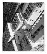 View From Edificio Martinelli Bw - Sao Paulo Fleece Blanket