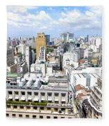 View From Edificio Martinelli - Sao Paulo Fleece Blanket