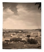 View From Hradcany Of Mala Strana Fleece Blanket