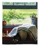 View From Kitchen Window Fleece Blanket