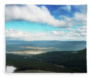 View From Martial Glacier, Ushuaia Fleece Blanket