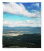 View From Martial Glacier, Ushuaia Fleece Blanket