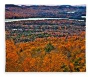 View From Mccauley Mountain Fleece Blanket