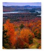 View From Mccauley Mountain II Fleece Blanket