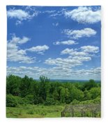 View From Monticello Fleece Blanket