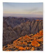 View From Mount Sinai Fleece Blanket