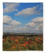 View From Mt Auburn Cemetery Tower Fleece Blanket