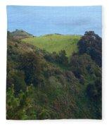 View From Nepenthe In Big Sur Fleece Blanket
