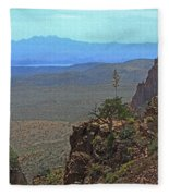 View From Parker Creek Canyon Fleece Blanket