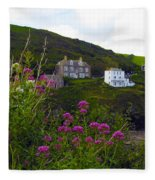 View From Port Isaac Fleece Blanket