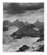 T-303501-bw-view From Quadra Mtn Looking Towards Ten Peaks Fleece Blanket