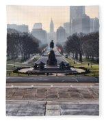 View From Rocky's Footsteps Fleece Blanket
