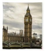 View From Southbank Fleece Blanket