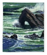 View From The Bluffs Fleece Blanket