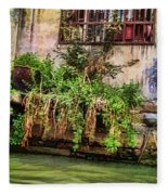 View From The Grand Canal China Fleece Blanket