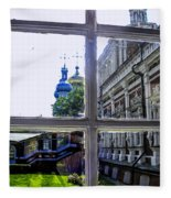 View From The Novodevichy Convent - Russia Fleece Blanket