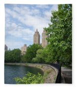 View From The Park West Side Fleece Blanket