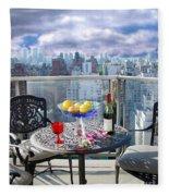 View From The Terrace Fleece Blanket