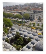 View From The Valens Aqueduct In Istanbul Fleece Blanket
