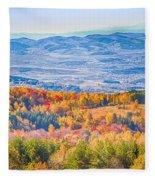View From Vitosha Mountain Near Sofia City Fleece Blanket