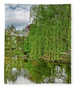 View Of A Botanical Garden, Krakow Fleece Blanket