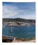 View Of A Harbor From A Castle, St Fleece Blanket