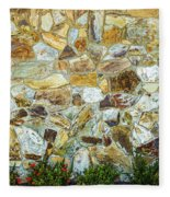 View Of A Stone Wall Fleece Blanket